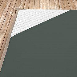 Napínací jersey prostěradlo tmavě šedé 140x200 cm jednolůžko Jersey