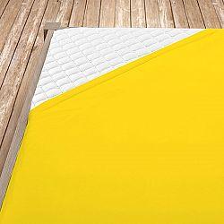 Napínací jersey prostěradlo žluté 100x200 cm jednolůžko - standard Jersey