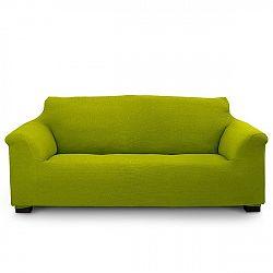 Potah na trojkřeslo Elegant zelený 180-240 cm - třímístná pohovka zelená