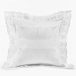 Povlak na polštářek krajka bílý 40x40 cm bílá