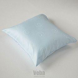 Povlak na polštářek Snail modrý 40x40 cm modrá
