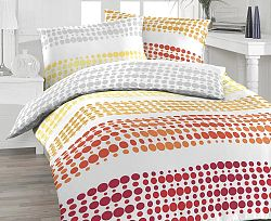 Povlečení Felix oranžové Jednolůžko - standard, přikrývka: 1ks 140x200 cm, polštář: 1ks 90x70 cm bavlna