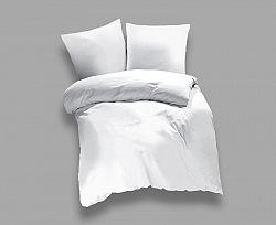 Povlečení UNI bílé Jednolůžko - prodloužené, přikrývka: 1ks 140x220 cm, polštář: 1ks 90x70 cm bavlna