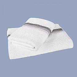 Ručník Ombré bíločerný 50x90 cm, 450 g/m2 Ručník