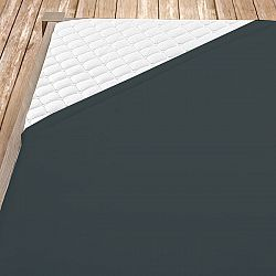 Tmavě šedé bambusové jersey prostěrdlo 180x200 cm dvojlůžko - standard Bambus - jersey