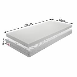 Dětská pěnová matrace BE ELISSE Tempo Kondela 90 x 120 cm
