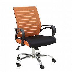 Kancelářská židle LIZBON oranžová / černá Tempo Kondela