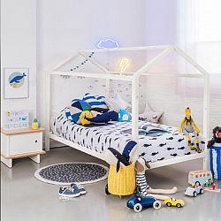 Montessori postel, borovicové dřevo, bílá, IMPRES 0000227797 Tempo Kondela