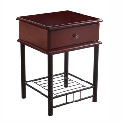 Noční stolek, tmavý dub / černá, Celesta 2 NEW 0000237922 Tempo Kondela