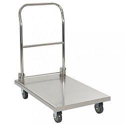 Plošinový vozík nerezová ocel Dekorhome
