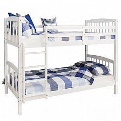 Rozložitelná patrová postel RAVELO bílá Tempo Kondela