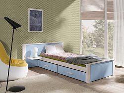 Dětská postel Almerie, 90x200cm, bílá/modrá