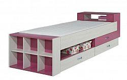 Dětská postel M1 KM17  M1 : Dekor  Jasan / růžová