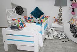 Dětská postel z masivu Kuba, 160x80, bílá