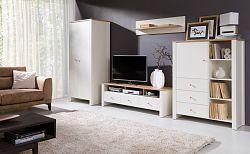 Moderní bytový nábytek Bremen sestava A, dub zlatý/krém