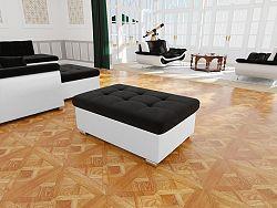 Moderní taburet Kler větší, bílá/černá Casablanca
