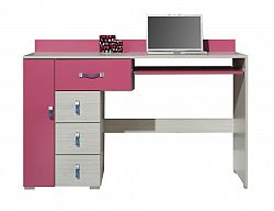 PC stůl M1 KM13  :  Jasan/modrá