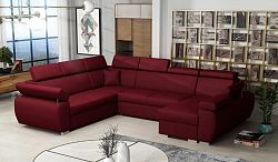 Rohová sedačka do U Balaton maxi, červená    Roh: Orientace rohu Levý roh
