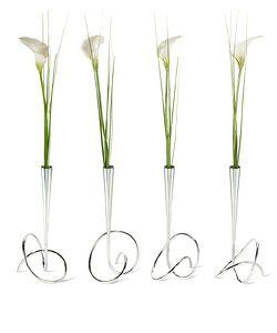 Vázička s květinou BLACK-BLUM Flower Loop, chrom