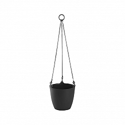 Plastkon Závěsný květináč ARIELLA 18 cm, antracit