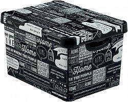 BOX plastový s víkem - L - TYPOGRAPHY CURVER
