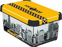 Box úložný s víkem - S - NY CITY CURVER