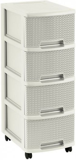 CURVER 41573  Plastová šuplíková komoda KNIT 4x10L - krémová