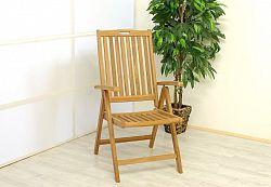 Divero 2028 Skládací židle z týkového dřeva, 2 kusy