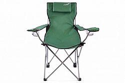 Divero 35213 Skládací kempingová židle s polštářkem - zelená