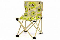 Divero 40754 Dětská skládací židle béžová - květinový vzor