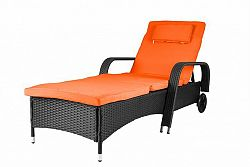 Garthen 29786 Luxusní zahradní lehátko oranžové