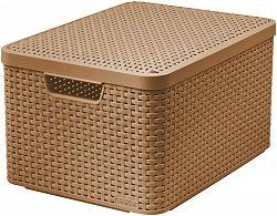Košík box s víkem - L - mocha CURVER