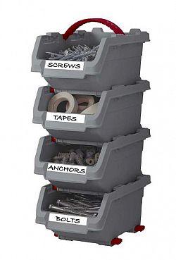 Sada plastových boxů KETER CLICK BINS set - S - 4 organizéry KETER
