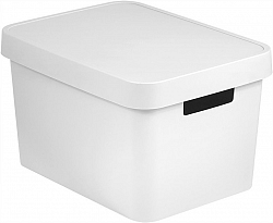 Úložný box plastový s víkem 17L - bílý CURVER