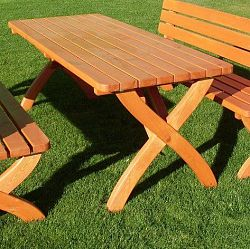 Zahradní dřevěný stůl STRONG masiv FSC