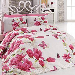 Bavlněné  povlečení Alize Pink růžové 200 x 220 cm, 2x 70 x 90 cm