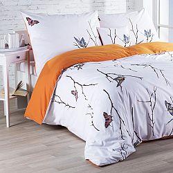 Bavlněné  povlečení Motýli 140 x 200 cm, 70 x 90 cm