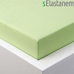 Hermann Cotton Napínací prostěradlo jersey s elastanem zelené 180 x 200 cm