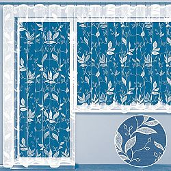 Hotová žakárová záclona JASMÍNA - balkonový komplet