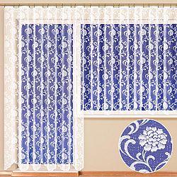 Hotová žakárová záclona NINA - balkonový komplet