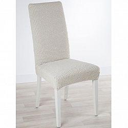 Nueva Textura decoDoma napínací potah strečový GLAMOUR smetanové židle s opěradlem 2 ks 40 x 40 x 60 cm