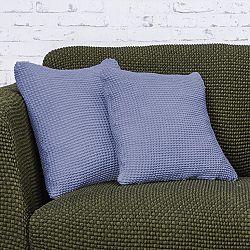 Nueva Textura decoDoma napínací potah strečový NIAGARA modrá povlaky na polštářky 2 ks  40 x 40 cm