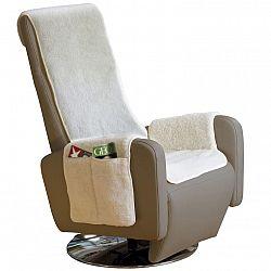Nueva Textura decoDoma napínací potahy na sedací soupravu strečový GLAMOUR oříškové na sedačku - dvojkřeslo 140 - 180 cm