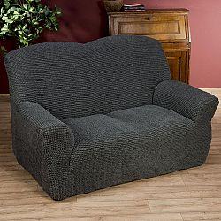 Nueva Textura decoDoma napínací potahy na sedací soupravu strečový GLAMOUR šedé na sedačku - dvojkřeslo 140 - 180 cm