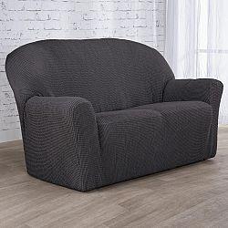 Nueva Textura decoDoma napínací potahy na sedací soupravu strečový NIAGARA antracitová na sedačku - dvojkřeslo 140 -180 cm