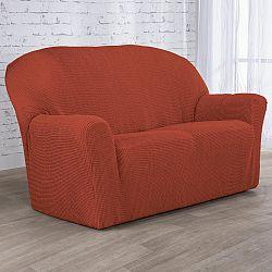 Nueva Textura decoDoma napínací potahy na sedací soupravu strečový NIAGARA cihlová na sedačku - dvojkřeslo 140 - 180 cm