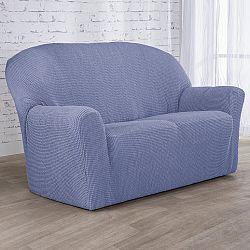 Nueva Textura decoDoma napínací potahy na sedací soupravu strečový NIAGARA modrá na sedačku - dvojkřeslo 140 - 180 cm
