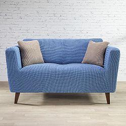 Nueva Textura decoDoma napínací potahy na sedací soupravu strečový NIAGARA modrá na sedačku - trojkřeslo 180 - 230 cm