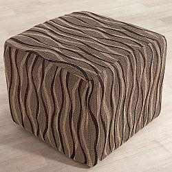 Nueva Textura Monoelastické potahy CASIOPEA hnědé na taburet 40 x 60 cm