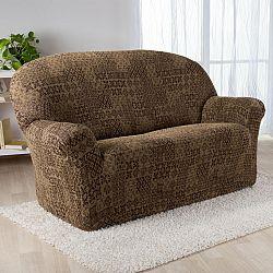 Nueva Textura Monoelastické potahy na sedací soupravuy ADANA hnědé na sedačku - dvojkřeslo 140 - 180 cm